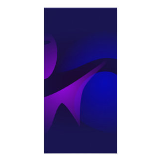 Simple Navy Gradation Abstract Art Picture Card
