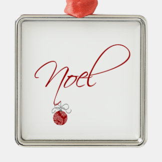 Simple Noel Christmas Tree Decoration Silver-Colored Square Decoration