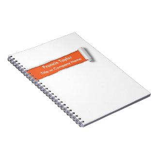 Simple, original orange ripped paper design... notebook