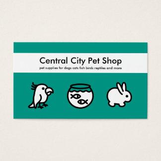 Simple Pet Shop Business Cards