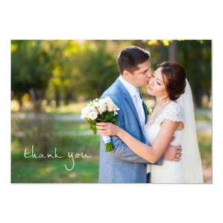 Simple Photo Wedding Thank You Note Cards 13 Cm X 18 Cm Invitation Card
