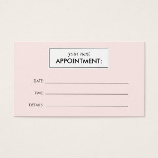 Spa Appointment Business Cards And Spa Appointment Business - Appointment business card template