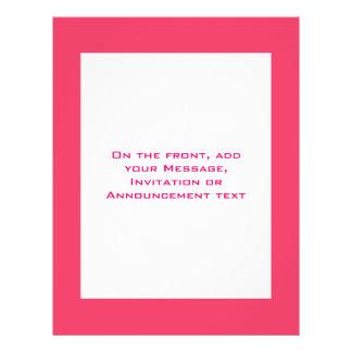 Simple pink border flyer