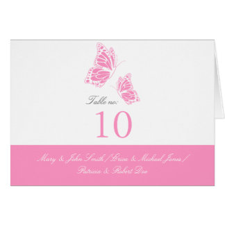 Simple Pink Butterfly Table Place Card