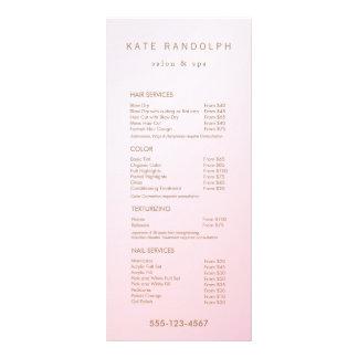 Simple Pink Ombre Salon Price List Service Menu