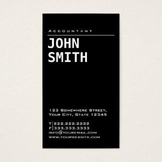 Simple Plain Black Accountant Business Card