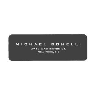Simple Plain Grey Custom Return Address Label