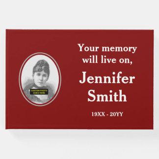 Simple & Plain Memories Guestbook; Custom Photo Guest Book