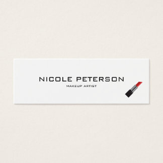 Simple Plain Modern Makeup Artist Appointment Mini Business Card