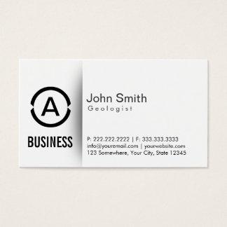 Simple Plain Monogram Geologist Business Card