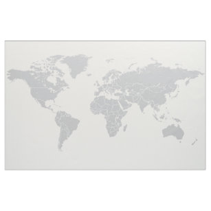 World map fabric zazzle simple political world map fabric wall hanging gumiabroncs Image collections
