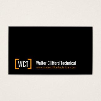 Simple professional black orange business cards