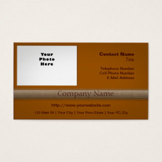 Simple Professional with Photo Pumpkin Pie Orange Business Card