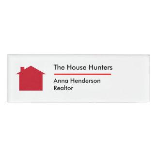 Simple Real Estate Logo Name ID Badges