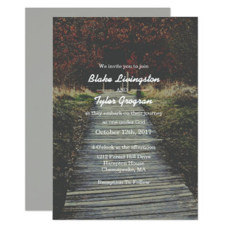 Simple Rustic Nature Religious Wedding Invitation