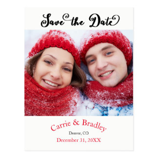 Simple Save the Date Photo - Postcard