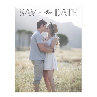 simple save the date, whimsical save the date postcard