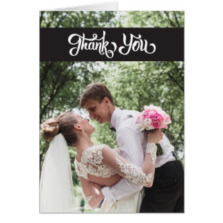 Simple Script Wedding Thank You Folded Note Card