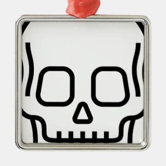 Simple Skull Christmas Ornament