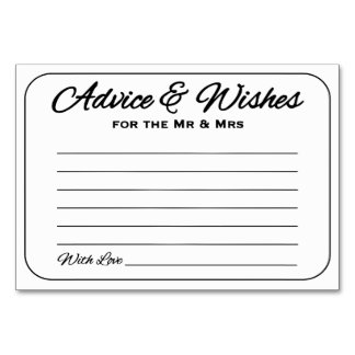Simple & Sleek Advice and Wishes Card