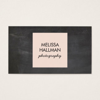 Simple Square Logo on Chalkboard for Photographers