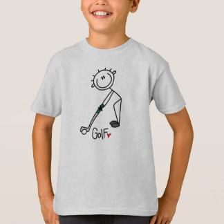 Simple Stick Figure Golfer T-Shirt