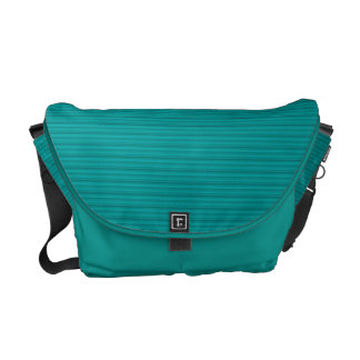 Simple Stripes Textured Look Green Messenger Bags