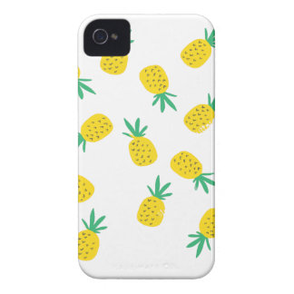Simple summer pineapple cartoon pattern Case-Mate iPhone 4 cases