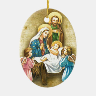 Simple Sweet Nativity Image Gift of Love Christmas Christmas Ornament