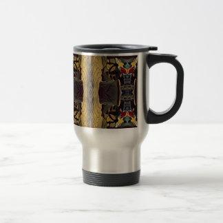 Simple Symmetrical Masculine Pattern Travel Mug