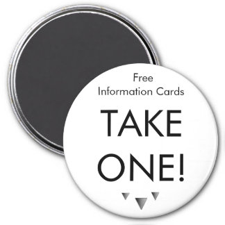 Simple Take One Magnet - Customized
