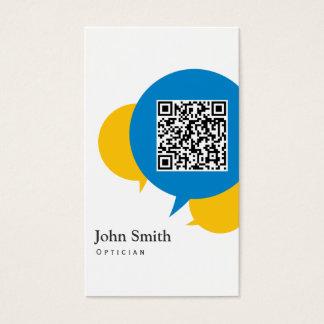 Simple Talk Bubbles Optician Business Card