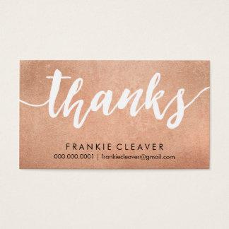 SIMPLE THANKS SCRIPT handdrawn type rose gold foil