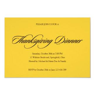 Simple Thanksgiving Dinner Invitation