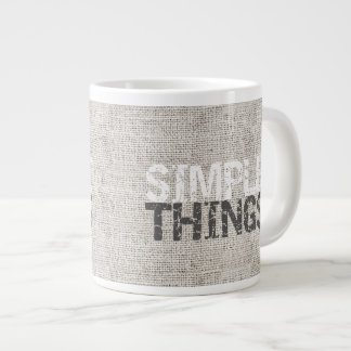 Simple Things Burlap ID184 Large Coffee Mug