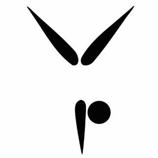 Simple Tumbler Gymnast Gymnastics Symbol Photo Sculpture