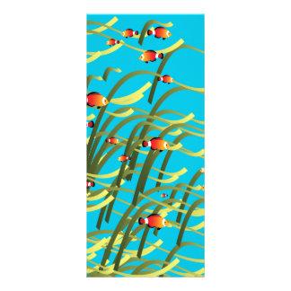 Simple underwater scene rack card template