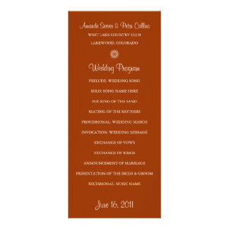 Simple Wedding Programs (Brick) Rack Card Design