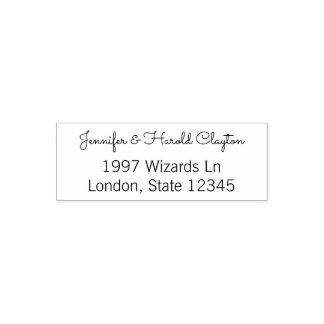 Simple Wedding Return Address   Couple Names Self-inking Stamp