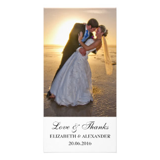 Simple Wedding Thank You Photo Card