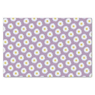 Simple White Daisy on Purple Pattern Tissue Paper