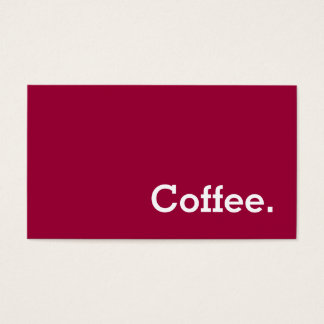 Simple Word Color Back Loyalty Coffee Punch-Card