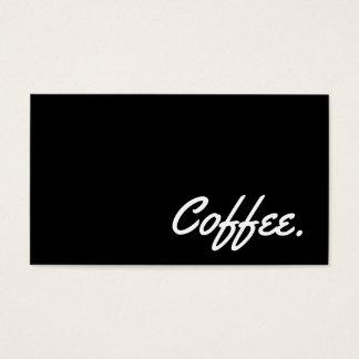Simple Word Dark Coffee Punch-Card Yellowtail