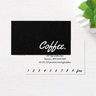 Simple Word Dark Coffee Punch-Card Yellowtail Business Card