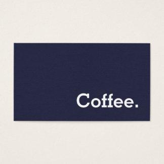 Simple Word Dark Felt Loyalty Coffee Punch-Card