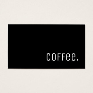 Simple Word Dark Loyalty Coffee Punch-Card Unica Business Card