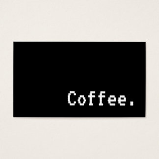 Simple Word Dark Loyalty Coffee Punch-Card VT323