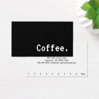 Simple Word Dark Loyalty Coffee Punch-Card VT323 Business Card