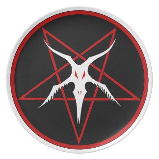 Simplified Baphomet Pentagram - Black Plate