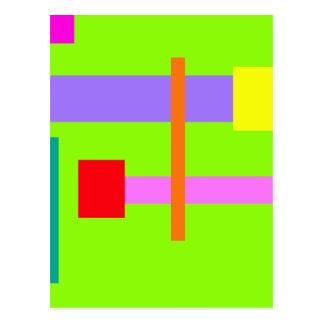 Simplistic Minimal Design Green Field Post Cards